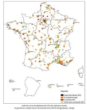 A quand la fibre de Free dans les villes moyennes : carte des zones AMII