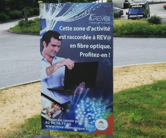 Réseau optique REV@ à Vannes