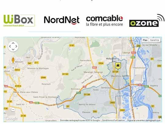 Quatre opérateurs fibre sont pour le moment présents sur la région de Maizières-lès-Metz