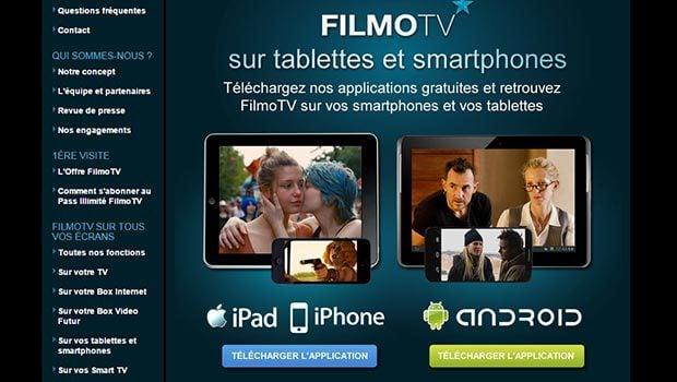 FilmoTV disponible sur ordinateur, tablette, smartphone...