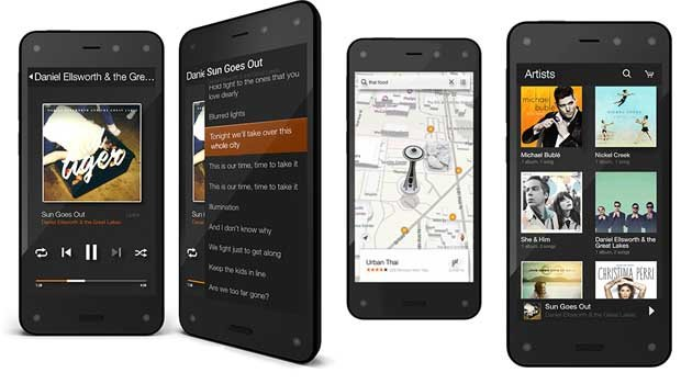 Amazon Fire Phone : Dynamic Perspective et Firefly