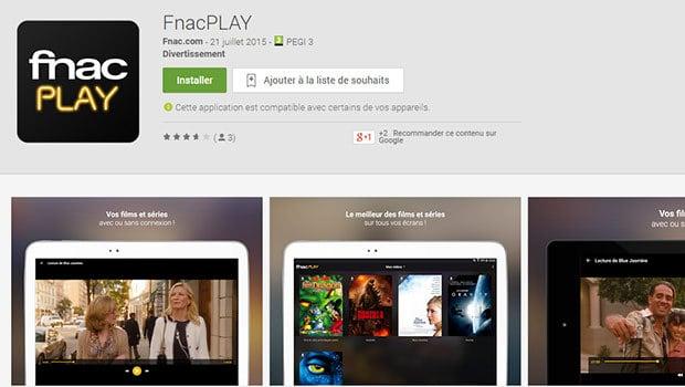 L'application FnacPLAY est disponible pour le moment sur Android et prochainement sur iOS