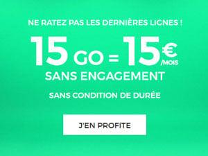 forfait 15 euros 15gigas red