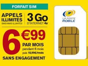 forfait 3Go la poste mobile