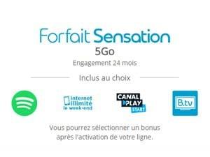 forfait sensation 5go