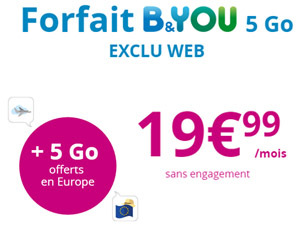 forfaits B&You 5Go offerts en europe