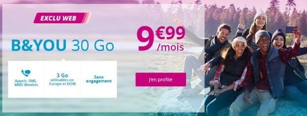 Souscrire la série limitée B&You 30Go à 9,99€/mois