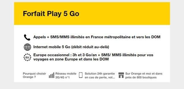 forfait Play 5Go