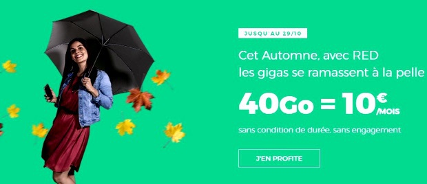 Souscrire le forfait RED 40Go à 10€/mois