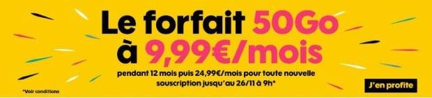 Le forfait 50Go de Sosh en promo jusqu'au 26 novembre 2018