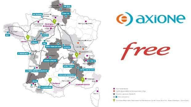 Les régions qui seront éligibles aux offres Freebox... par Axione