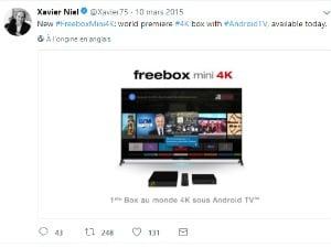 Freebox Mini 4K Android TV et 4K, en 2015