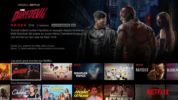 Netflix c'est Daredevil, Orange is the new black, house of cards...