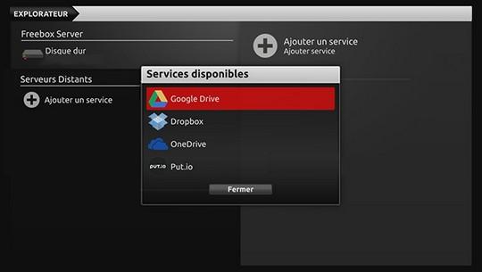 Google Drive, Dropbox et OneDrive connectés à la Freebox