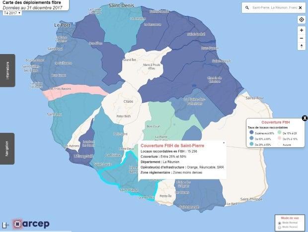 Déploiement fibre à La Réunion