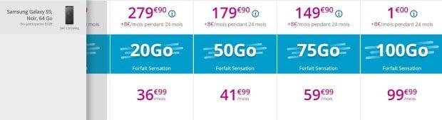 Galaxy S9 a partir de 1€ chez Bouygues