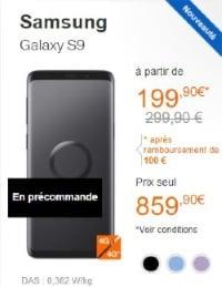 Acheter le Samsung galaxy s9 à petit prix chez Orange