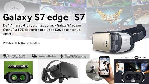Casque Gear VR en promo avec le Galaxy S7/S7 edge
