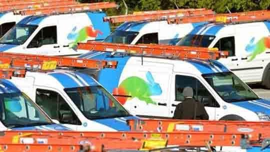 Une flotte de véhicules pour le déploiement du service Google Fiber
