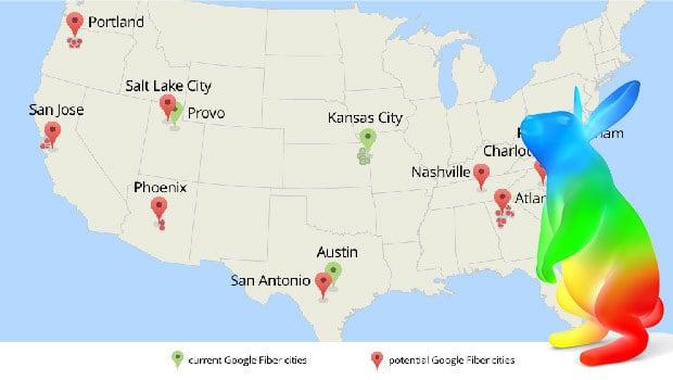 Google Fiber, un service proposé sur trois  agglomérations amréricaines