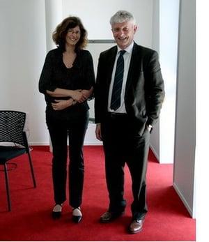 Claire Houssais et Antoine Mercier en charge du très haut débit à Vannes Agglo