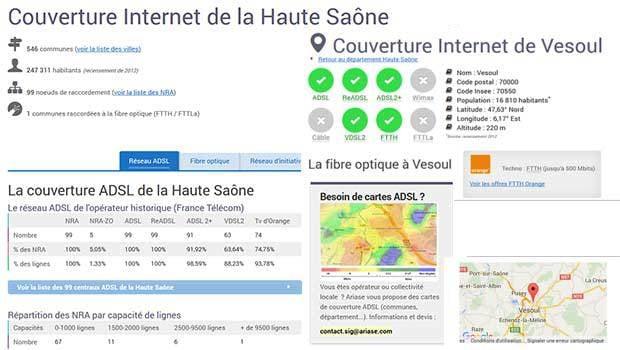 L'ADSL en Haute-Saône