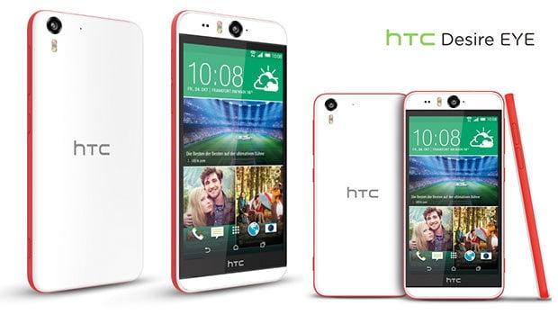 HTC Desire Eye, un Smartphone bicolore résistant à l'eau