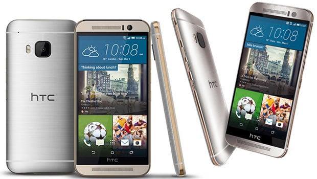 HTC One M9 avec un capteur dorsal de 20 mégapixels, le double flash LED et l'autofocus