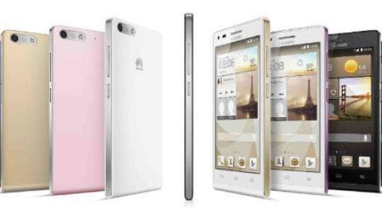 Huawei Ascend P7 : noir, blanc ou rose