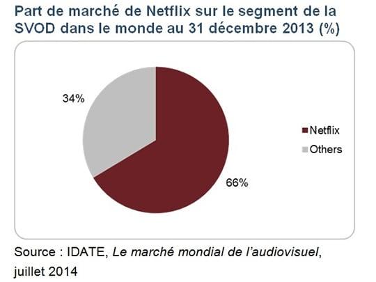 Etude IDATE, Netflix dans le monde