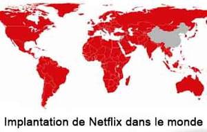implantation Netflix monde
