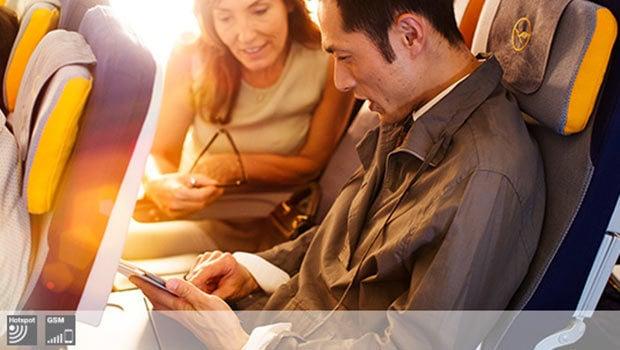 Internet, SMS et MMS dans les avions Lufhtansa