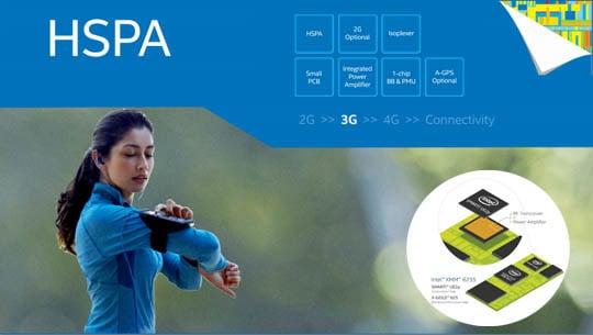 Intel XMM 6255, adapté aux objets connectés