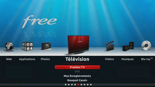 Interface de la Freebox TV
