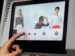 Internet depuis l'écran devant vous dans un avion