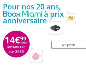 Bbox miami à partir de 14,99€/mois