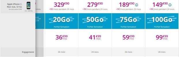iPhone 7 : les offres de Bouygues