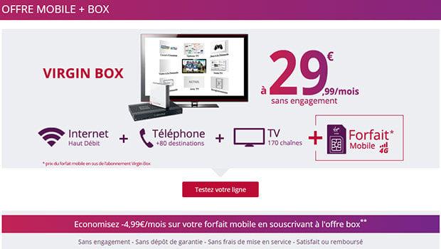 La Virgin Box en partenariat avec SFR