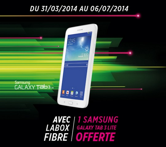 Tablette Samsung offerte avec LaBox