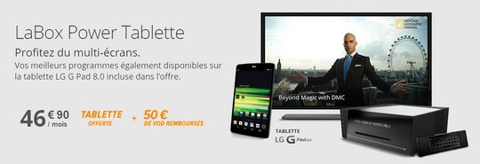 Une tablette LG offerte avec LaBox Power