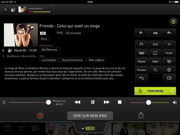 Détail d'un programme sur LaBox TV pour tablette