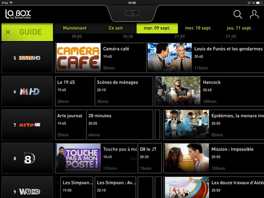 Guide EPG LaBox TV