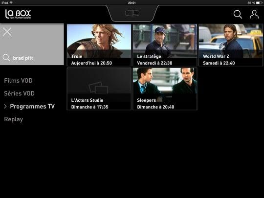 Recherche sur LaBox TV