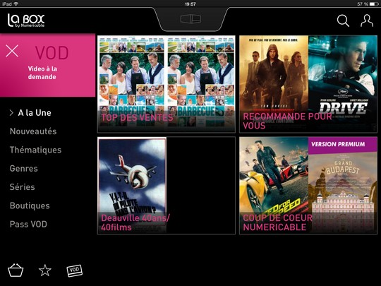 VoD sur LaBox TV
