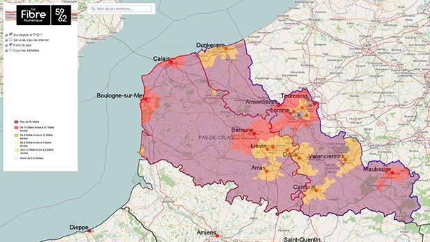 La Fibre Numérique 59-62 sur le Nord-Pas-de-Calais