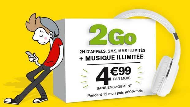 La promotion La Poste mobile sur le forfait SIM 2H/2Go+Music