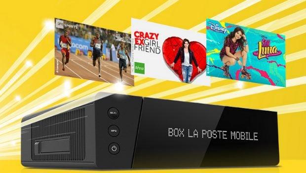 La promotion La Poste mobile Box TV Plus