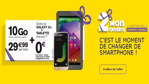 2 mois offerts chez La Poste Mobile, forfaits avec mobile et engagement