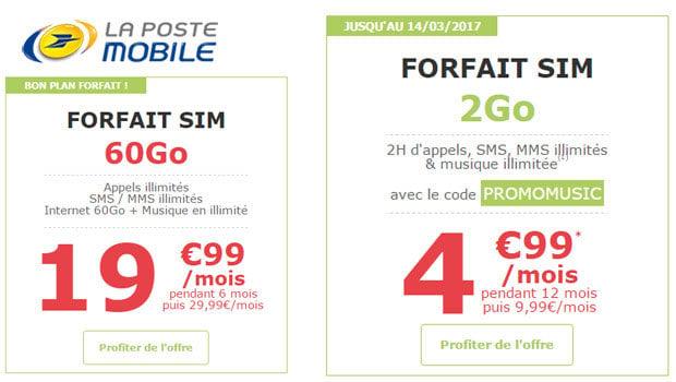 Promotions chez La Poste Mobile...