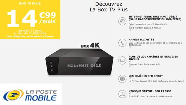 La Poste Mobile et sa box TV Plus